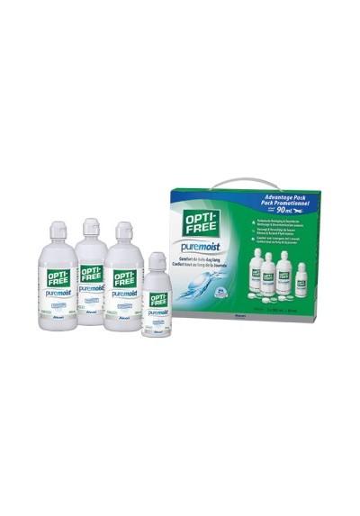 Opti-Free PureMoist PACK 3x300ml + 1x90ml + Etuis
