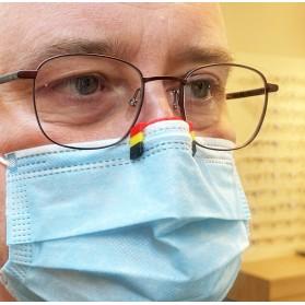 STEFTI Euro 2021 Belgique antibuée pour porteurs de lunettes à fixer aux masques