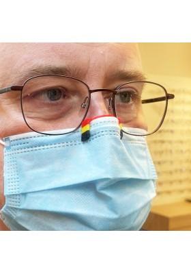 STEFTI Euro 21Belgique antibuée pour porteurs de lunettes à fixer aux masques