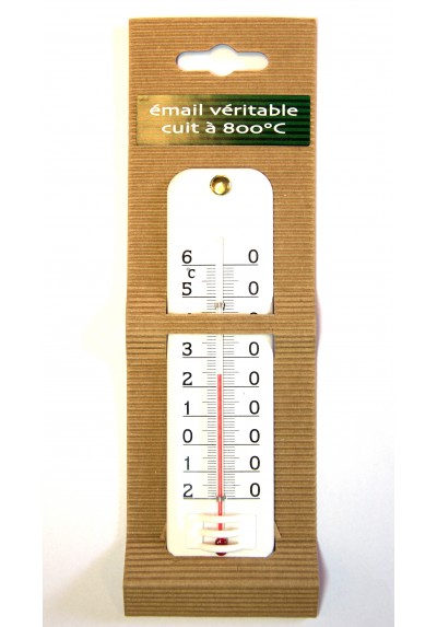 Thermomètre émail extérieur intérieur 16 cm